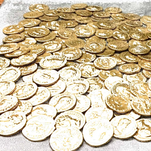 coins money tokens gold treasure 3